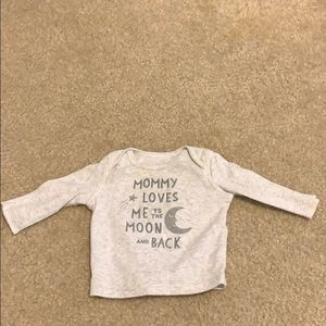 Mommy loves me to the moon and back baby shirt